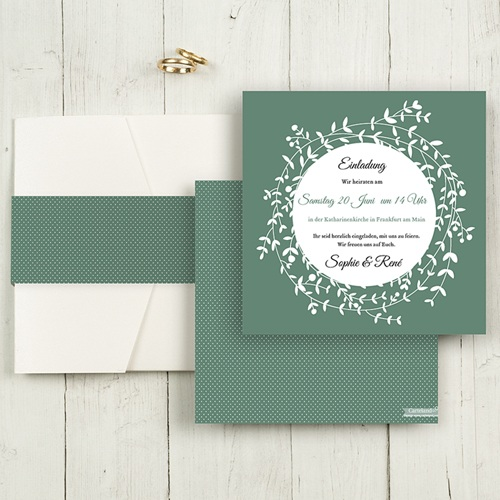Hochzeitskarten Quadratisch - Diadem 55814