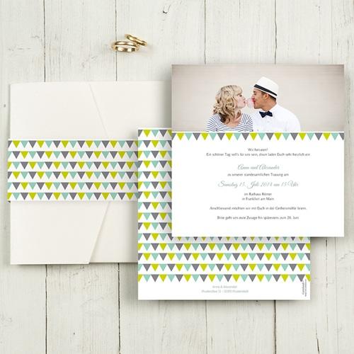 Hochzeitskarten Quadratisch Vintage Charme