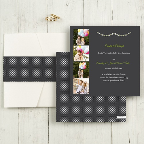 Hochzeitskarten Quadratisch - Wir sagen ja 55826 test