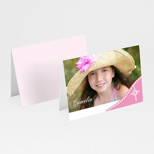 Tischkarten Kommunion - Sanftes Rosa 5591