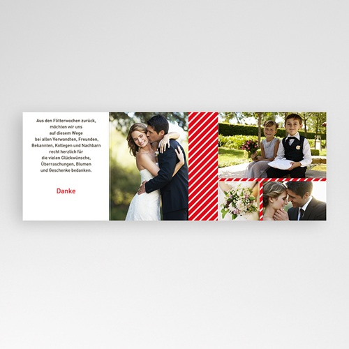 Danksagungskarten Hochzeit  Brautpaar