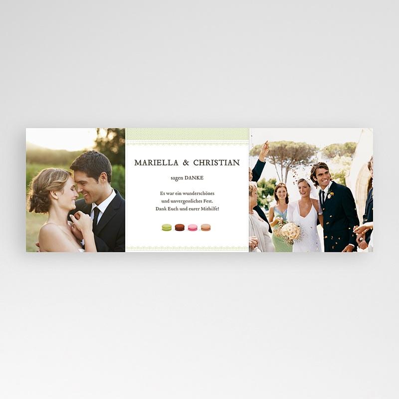 Danksagungskarten Hochzeit  Makrönchen