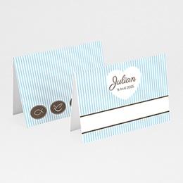 Tischkarten Blau gestreift 1