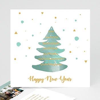 Weihnachtskarten - Tannenbaum und Schneeflocken - 0
