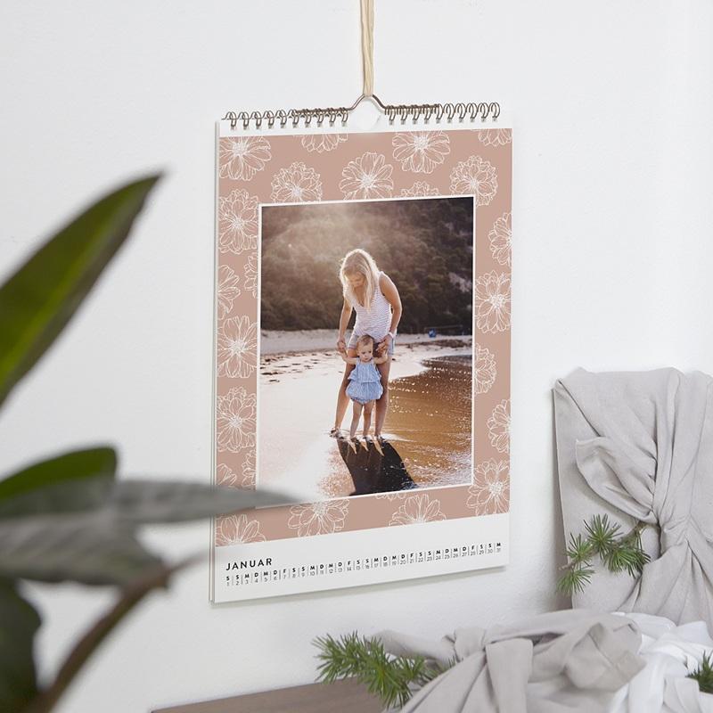 Wandkalender Blumenwiese pas cher