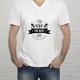 Personalisiertes T-Shirt - The Best Dad - 0
