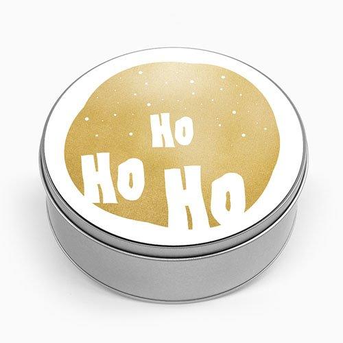 Personalisierte Fotodose HO HO HO - Gold