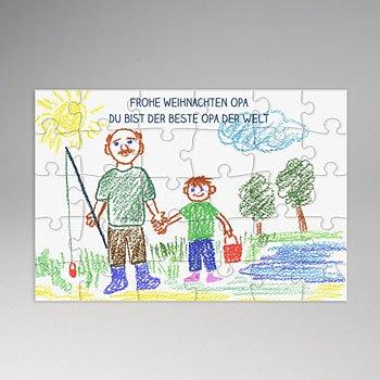 Puzzle rechteckig - Kinderzeichnung - 0