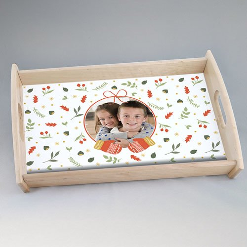 Personalisierte Foto-Tablett  Wollig Warm