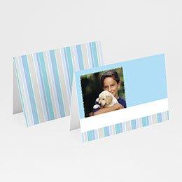 Tischkarten Blaue Streifen 1