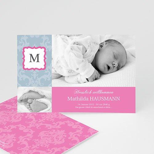 Geburtskarten für Mädchen - Mohn 571