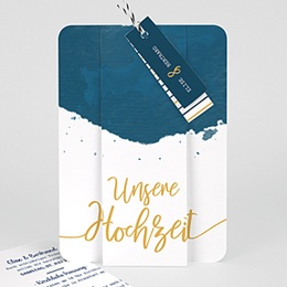 Karten Hochzeit Gold & Aquarell