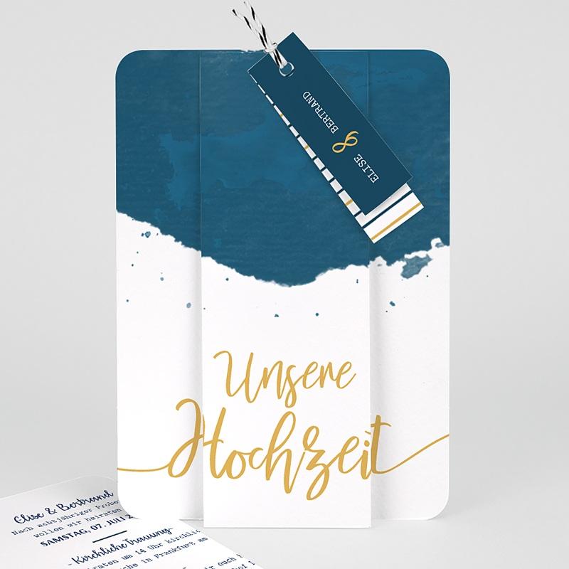 Kreative Hochzeitskarten - Gold & Aquarell 57326 thumb