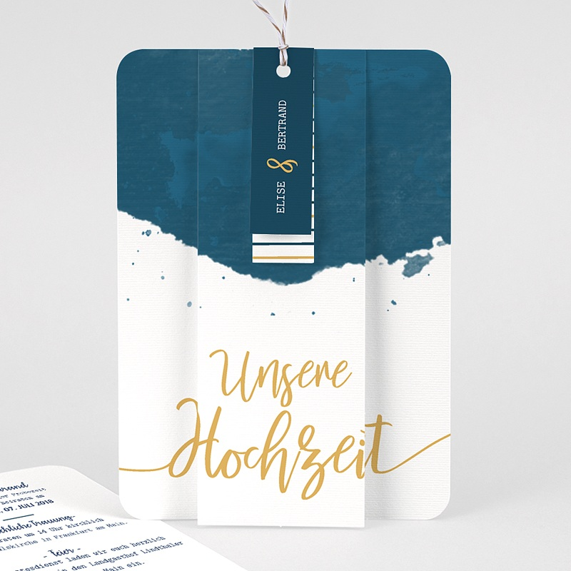 Kreative Hochzeitskarten - Gold & Aquarell 57329 thumb
