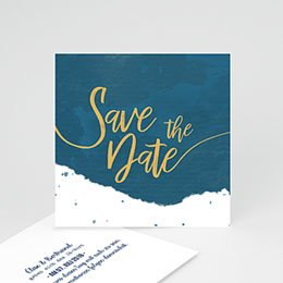 Save the date Hochzeit Gold & Aquarell