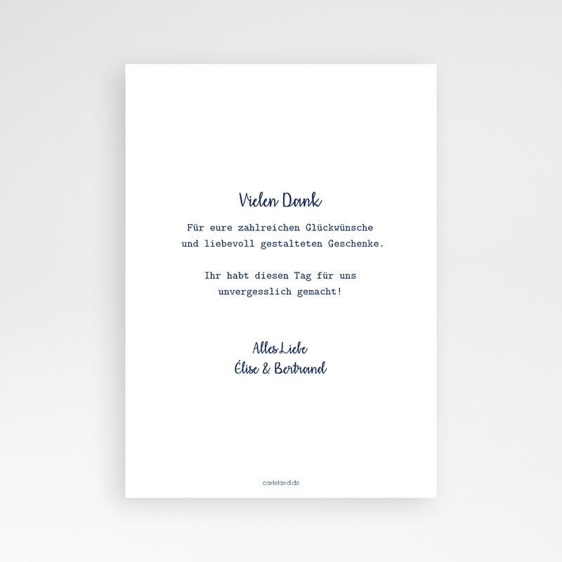 Originelle Dankeskarte Hochzeit  - Gold & Aquarell 57356 thumb