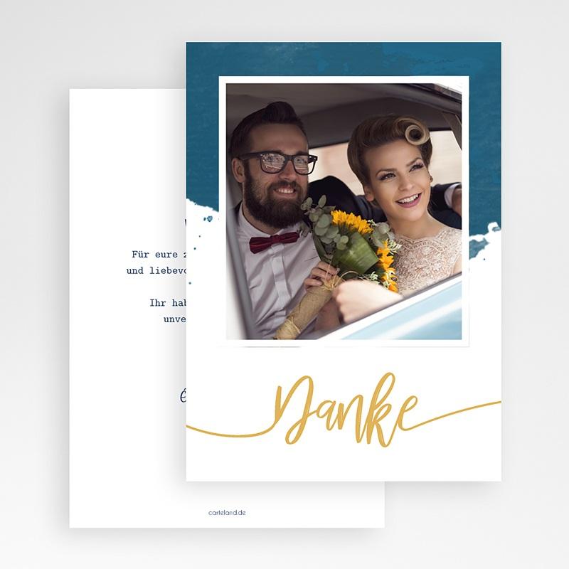 Originelle Dankeskarte Hochzeit  - Gold & Aquarell 57357 thumb