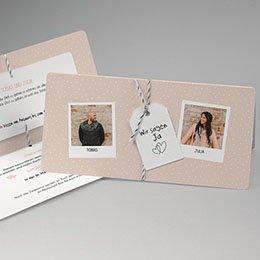 Hochzeitskarten mit Foto - Pola-Retro - 0