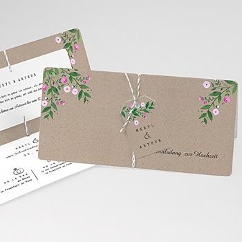 Einladungskarten Landhochzeit - Vintage Flower - 0