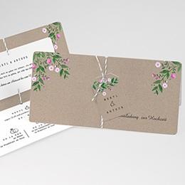 Karten Hochzeit Vintage Flower