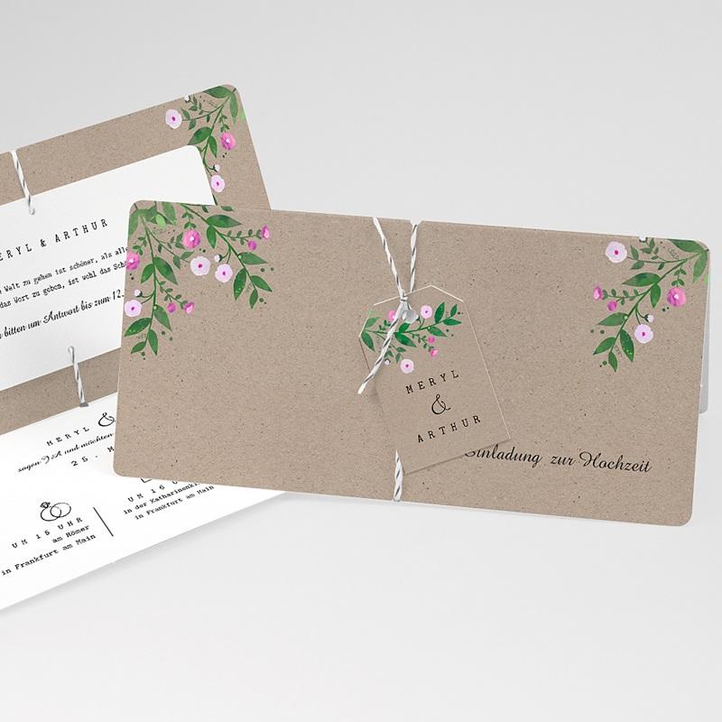 Einladungskarten Landhochzeit - Vintage Flower 57412 thumb