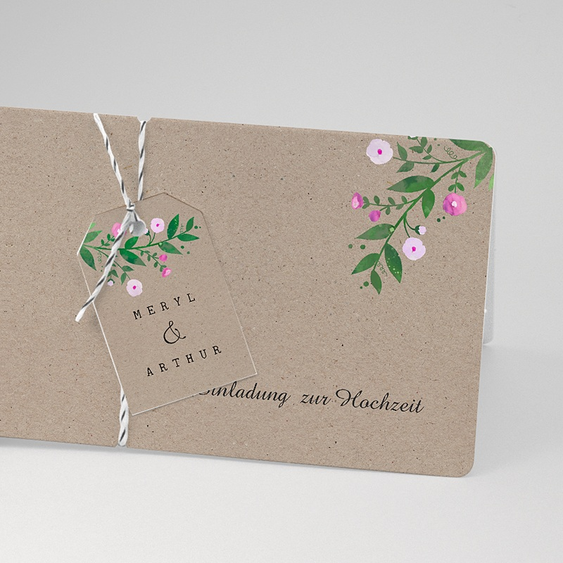 Einladungskarten Landhochzeit - Vintage Flower 57413 thumb