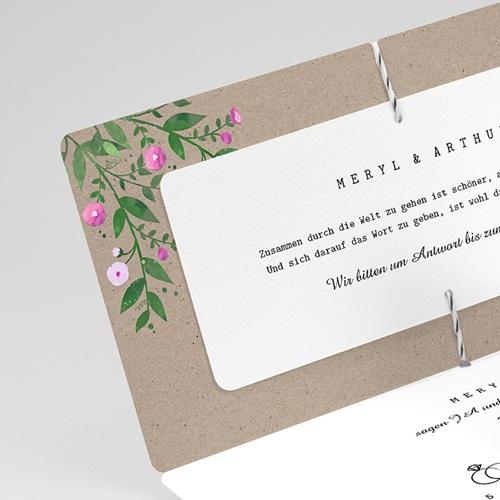 Einladungskarten Landhochzeit - Vintage Flower 57414 thumb
