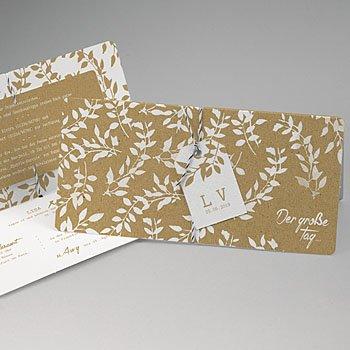 Einladungskarten Landhochzeit - Natur White Kraft - 0