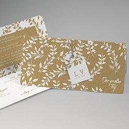 Einladungskarten Landhochzeit Natur White Kraft