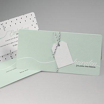 Kreative Hochzeitskarten - Mint - 0