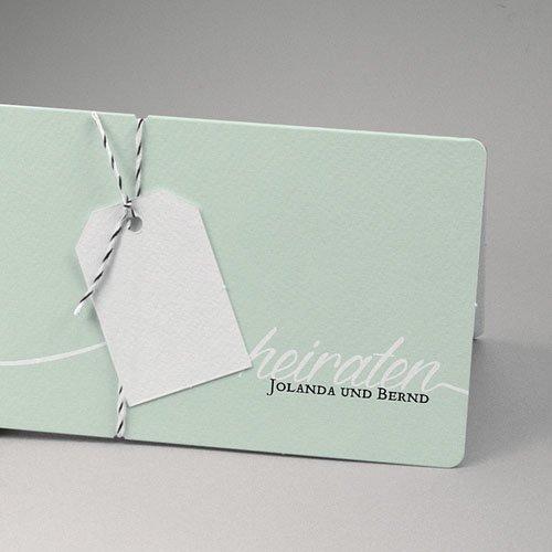 Hochzeitseinladungen Mint pas cher