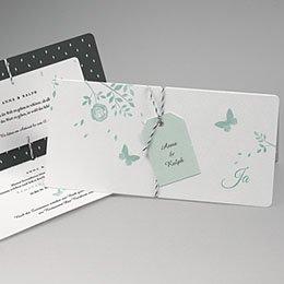 Karten Hochzeit Blaue Schmetterlinge