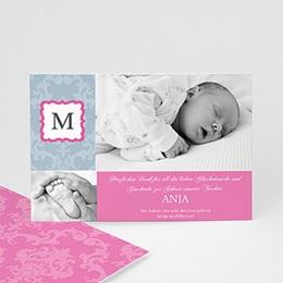 Dankeskarten Geburt Mädchen - Babykarte M - 1