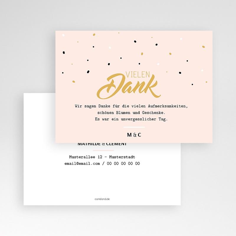 Dankeskarten Hochzeit ohne Foto Ja, ich will pas cher