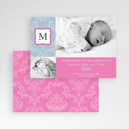 Dankeskarten Geburt Mädchen - Paulina 576 test