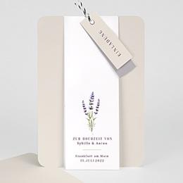 Einladungskarten Landhochzeit Lavendel