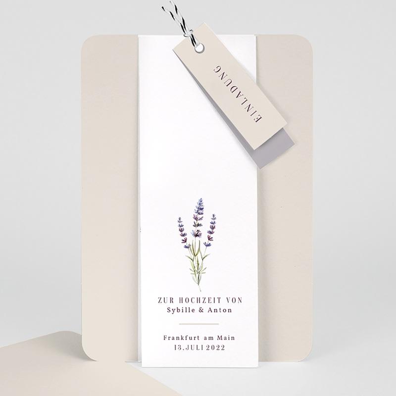 Einladungskarten Landhochzeit - Lavendel 57702 thumb