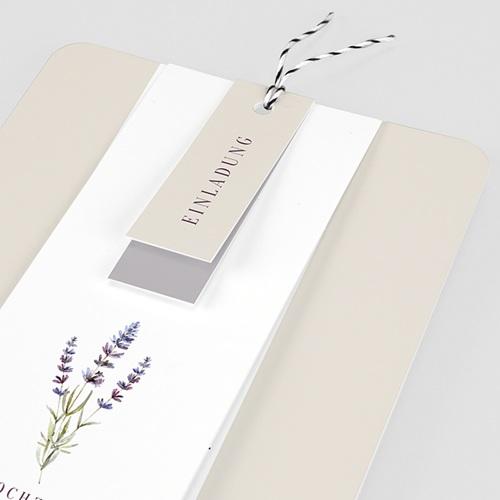 Einladungskarten Landhochzeit - Lavendel 57703 thumb