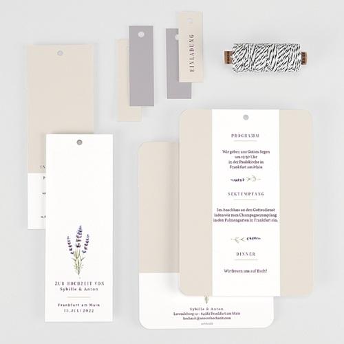 Einladungskarten Landhochzeit - Lavendel 57704 thumb
