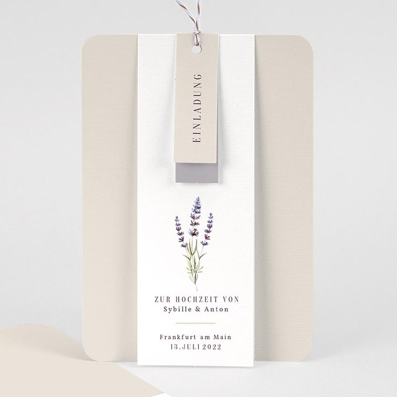 Einladungskarten Landhochzeit - Lavendel 57705 thumb
