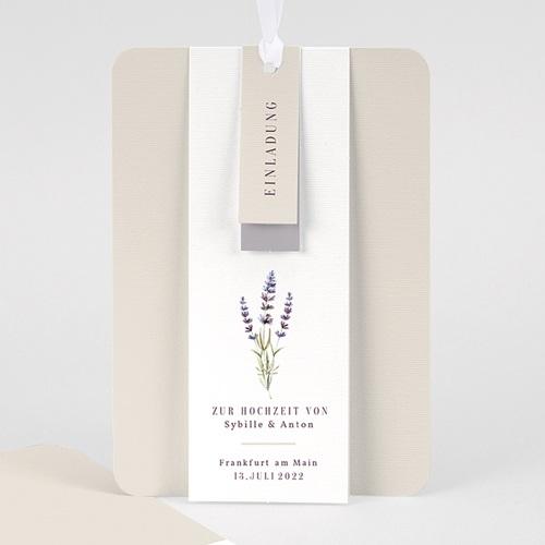 Einladungskarten Landhochzeit - Lavendel 57706 thumb