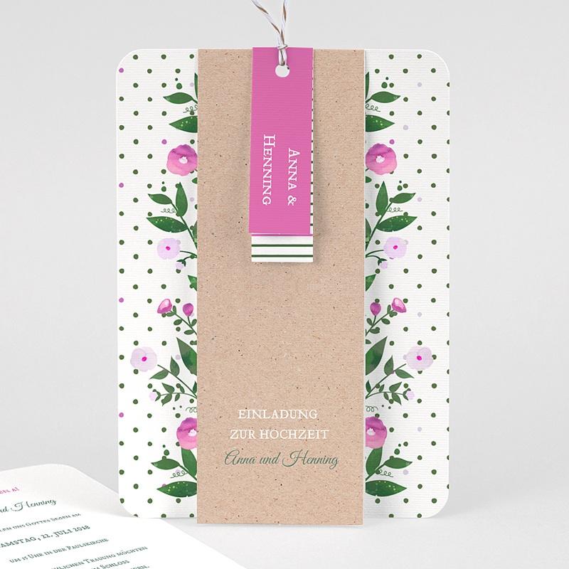 Rustikale Hochzeitseinladungen Blütentraum