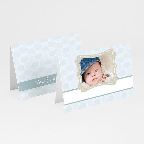 Tischkarten Taufe - Rahmen 5775