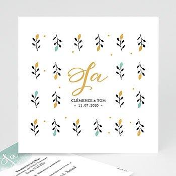 Klassische Hochzeitskarten  - Harmonie Love - 0