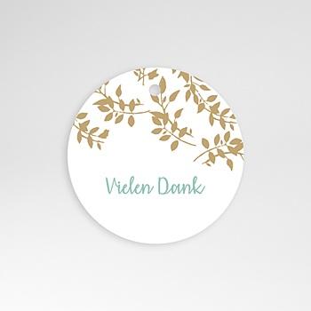Anhänger Hochzeit - Goldschimmernde Blätter - 0