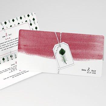Kreative Hochzeitskarten - Pfauenfeder - 0