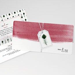 Karten Hochzeit Pfauenfeder