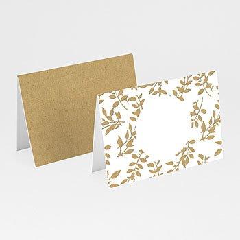 Tischkarten Hochzeit - Natur White Kraft - 0