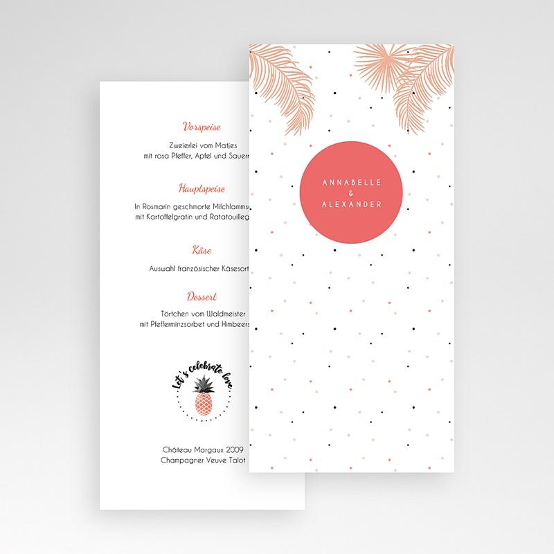 Menükarten Hochzeit Tropical Pastell pas cher