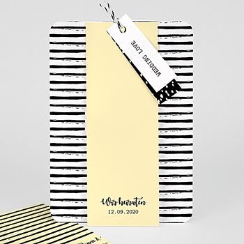 Einladungskarten Hochzeit  Streifen & Gelb